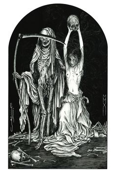Death and the Maiden II, 2012. China ink on paper, 29,7 x 21,0 cm. (A4) share/like: visit: