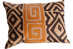 ethnic appliqued Kuba Cloth pillows are from Africa African Interior, African Home Decor, Diy Pillows, Decorative Pillows, Throw Pillows, Pillow Ideas, African Textiles, African Fabric, Global Decor