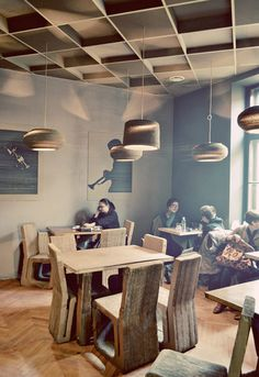 Classically Affluent of Culture Café with Cardboard Furniture – L'atelier Café - The Great Inspiration for Your Building Design - Home, Building, Furniture and Interior Design Ideas