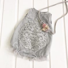 cod113  Grey overalls with silver by 4LittlePrincessProps on Etsy