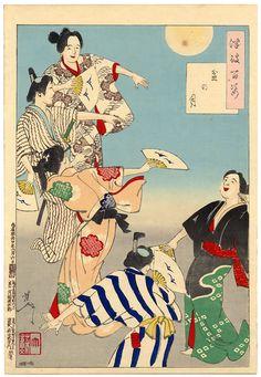 ukiyo-e tukioka yositosi warriors musha japan moon 100 Japanese Artists, Poster Prints, Woodblocks, Canvas Prints, Japanese Prints, Japanese Woodblock Printing, Art, Ukiyoe, Prints