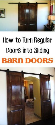 how to make a regular door a sliding door