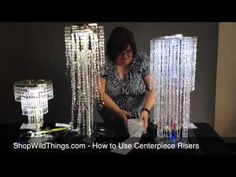 How to Use a Chandelier as a Centerpiece, Chandelier on a Table for Wedding Display, DIY Wedding Centerpiece Using Beaded Lamps Capiz Shell Chandelier, Chandelier Centerpiece, Lighted Centerpieces, Bling Centerpiece, Chandeliers, Bling Wedding, Trendy Wedding, Diy Wedding Decorations, Wedding Centerpieces
