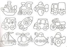 Maripê: Moldes de carros e coisinhas de meninos II