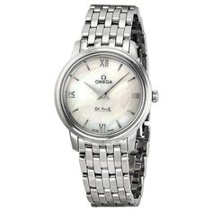 Omega De Ville Prestige Mother of Pearl Dial Stainless Steel Ladies Watch 42410276005001 ** Read more  at the image link.