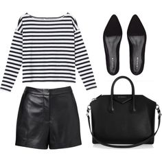 Back to black by mermaid-amber on Polyvore featuring Monki, Witchery, Jigsaw and Givenchy