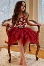 Ooh La La Couture Fleur Emma Dress in Red Girls Formal Dresses, Girls Party Dress, Girls Christmas Dresses, Holiday Dresses, Ooh La La Couture, Father Daughter Dance, Sequins, Red, Style