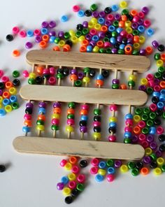 craft stick abacus for developing math skills