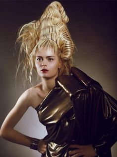 Coiffure: Corine Cappelli  Photo: Michel Bonini ~ think I'll wear this to the office Monday...