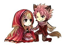 NaLu Red Riding Hood AU