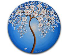 Árbol abstracto pintura pinturas de paisaje marino arte