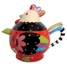 Charming Rooster Teapot.
