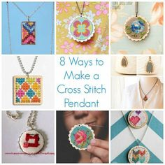 Cross stitch pendants are a big trend right now in the jewelry making business. If you have been thinking of trying this for yourself, here are 8 ideas to get you started. While it's the sa…