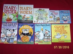 9 Cows That Type Diary of Worm Spider Click Clack Doreen Cronin Picture Books