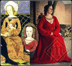 "15 century. ""Master of the Housebook"" dress  www.ladymalina.com"