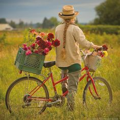 Riding along with flowers through the country