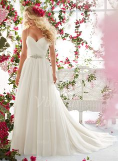 A-Line/Princess Sweetheart Court Train Ruffle Beading Tulle Covered Button Spaghetti Straps Sleeveless Church Garden / Outdoor No Spring Summer Fall Ivory White Wedding Dress