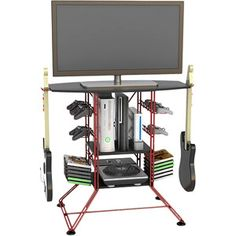 """Atlantic Centipede Gaming Storage Center and TV Stand for TVs up to 37""""- WalMart! Now this is cool!!"""