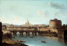 Rome: View of the Tiber  Artist:  Antonio Joli