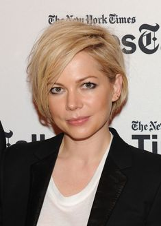 Michelle Williams's long, side-parted layers not only offer a chic solution to the tricky growing-out phase of 2013's pixie craze, but the length also could become one of Spring's top hair trends to try.