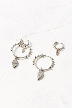 Luv Aj Double Marquise Hoop Earring Set