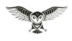Totem Tats: Owl by ShadowyNight on DeviantArt Totem Tattoo, Tribal Owl Tattoos, Animal Tattoos, Native American Tattoos, Native American Art, Owl Tattoo Drawings, Indian Symbols, Wood Badge, Owl Tattoo Design
