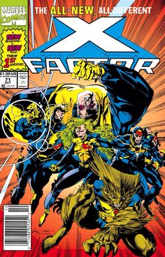 2nd age of X-Factor: Strong Guy, Havok, Polaris, Wolfsbane, Multiple Man and Quicksilver (1991 - X-Factor #71)