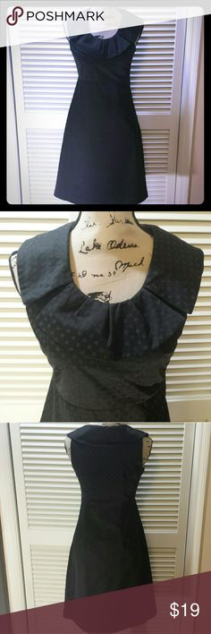 Merona Little Black Dress Polka-dotted little black sleeveless dress. Collar gives this adorbable dress just a little something extra. Fully lined, side zip and clasp on the left. 55% cotton, 45% polyester. Merona Dresses