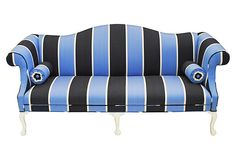 Camelback Striped Sofa on OneKingsLane.com
