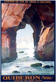"""""""Quiberon, grotte de Port-Bara"""" – 1929"""