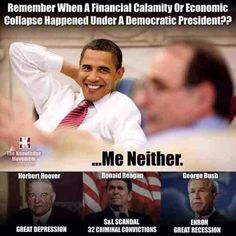 Funny how the economy always goes to hell when Republicans hold the White House...hmm !