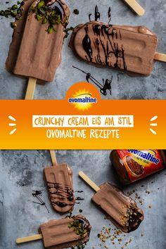 Du möchtest den Sommer zu Dir in die Küche holen? Dann probiere gleich unser Crunchy-Cream-Eis am Stiel.