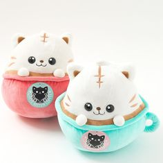 Latte Kitten Coffee Big Plushies. Kawaii plush