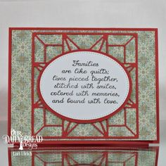 Our Daily Bread Designs Stamp Set: Quilted Family and Friends, Our Daily Bread Designs Paper Collection:Cozy Quilt, Our Daily Bread Designs Custom Dies:Pierced Rectangles, Pierced Ovals, Ovals, Star Quilt