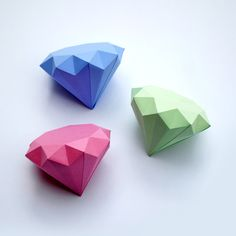 Paper diamonds.  I've had some UE students who would have loved trying this!