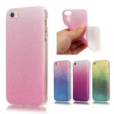 Phone Cases For iPhone 6 Case Silicone Glitter Bling Back Cover case Coque For iPhone 6 Plus Transparent Edge Gradient soft TPU