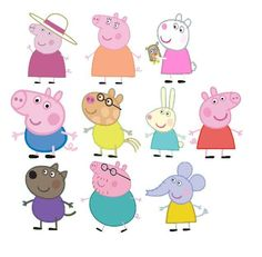 Excited to share the latest addition to my shop: Peppa pig cupcake toppers Peppa Pig Stickers, Peppa Pig Balloons, Aniversario Peppa Pig, Pig Cupcakes, Peppa Pig Family, Pig Character, Pig Party, Cupcake Toppers, Peppa Pig Pictures