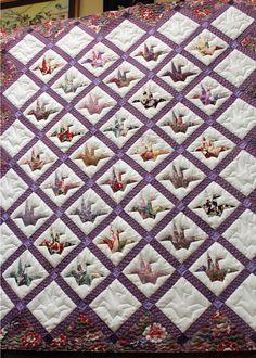Paper Piecing Origami Crane Quilts Pinterest
