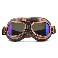 Vintage Helmet Motocross Goggles Clear Steampunk Goggles Sport Sunglasses For Motorcycle Cafe Racer Dirt Bike Motocross Goggles, Motorcycle Goggles, Motorcycle Dirt Bike, Steampunk Motorcycle, Steampunk Goggles, Vintage Helmet, Vintage Biker, Goggles Glasses, Aviator Glasses