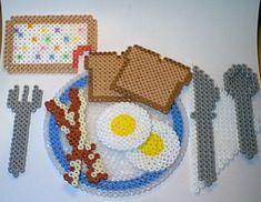 perles hama beads dinette food