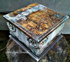Rusty Stone Antique Handmade Home Decor Box By Adisa Lisovac Decoupage