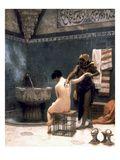 Gerome: The Bath, 1880 Impressão giclée por Jean Leon Gerome
