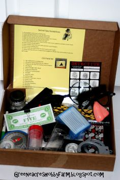 Greene Acres Hobby Farm: DIY Secret Agent Spy Kit Game