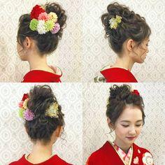 いいね!622件、コメント1件 ― R.Y.K Vanilla Emuさん(@ry01010828)のInstagramアカウント: 「成人ロケーション撮影のお客様 赤の振袖にルーズな おだんごヘア ボブのお客様ですが 高いところでのアップも 襟足の長さや髪質や量によってはできますので ご相談ください♪ 2着目もあるので…」 Kimono Japan, Japanese Kimono, Up Styles, Hair Styles, Japanese Wedding, Hair Arrange, Japanese Hairstyle, Japanese Outfits, Japanese Beauty