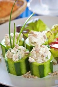 Chicken Salad Cucumber Cups - Approved for Phase 2 with Suggestions for adapting to Phase 3