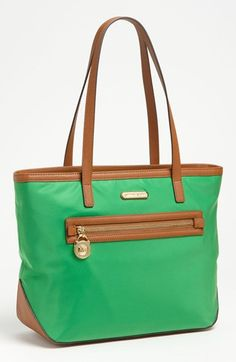This is my go to summer tote bag.   It's the perfect shade of green.     MICHAEL Michael Kors 'Kempton' Nylon Tote, Medium   Nordstrom