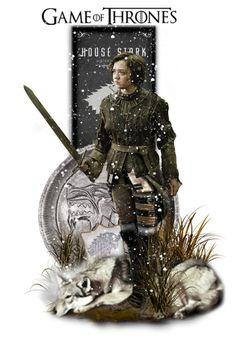 """Arya Stark"" by girlinthebigbox ❤ liked on Polyvore featuring art, GameOfThrones, got and AryaStark"