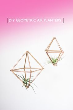 You'll never guess what they easy (and cheap) geometric planters are made of!