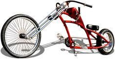 How's this for an eye-catching beach cruiser bicycle? Cruiser Bicycle, Motorized Bicycle, Cool Bicycles, Cool Bikes, Bike Chopper, Lowrider Bicycle, Karting, Velo Vintage, Power Bike