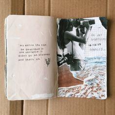Keeping an art journal or scrapbook. Ideas and inspiration for travel journaling Album Journal, Scrapbook Journal, My Journal, Art Journal Pages, Art Journals, Writing Journals, Tumblr Scrapbook, Summer Journal, Travel Journals